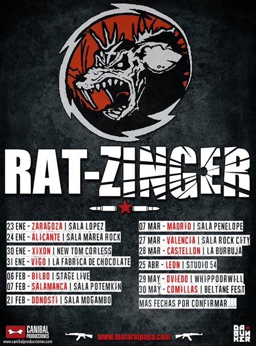 Nuevas fechas para la gira de rat zinger a ras de cielo for Studio 54 oviedo